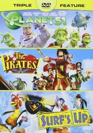 Pirates! Band of Misfits / Planet 51 / Surf's Up